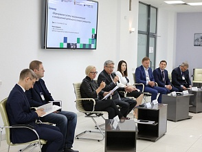"The polytechnic workers are taking part in the seminar ""Formation of the system of business and innovative activity at the Flagship University"""