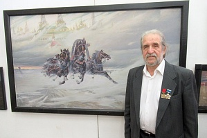 "The anniversary exhibition of paintings ""Link of Times"" created by Volgograd painter and teacher of the Architecture and Civil Engineering Institute of VSTU Mikhail Tchalov"