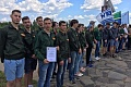 The students of the construction brigade of VSTU started their semester