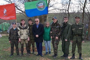 "The search group of VSTU ""South Front"" took part in the first stage of the ""Memory Watch"" and organized the event ""I remember. I am proud"""