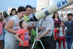 Volzhsky Polytechnical Institute (Affiliate of VSTU) showed the lunar craters to the inhabitants of Volzhsky